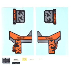 Fox Racing Shox Decal Kit 2018 32 SC F-S orange/matt black